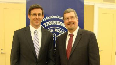 Hughes with Justice Jeff Bivins